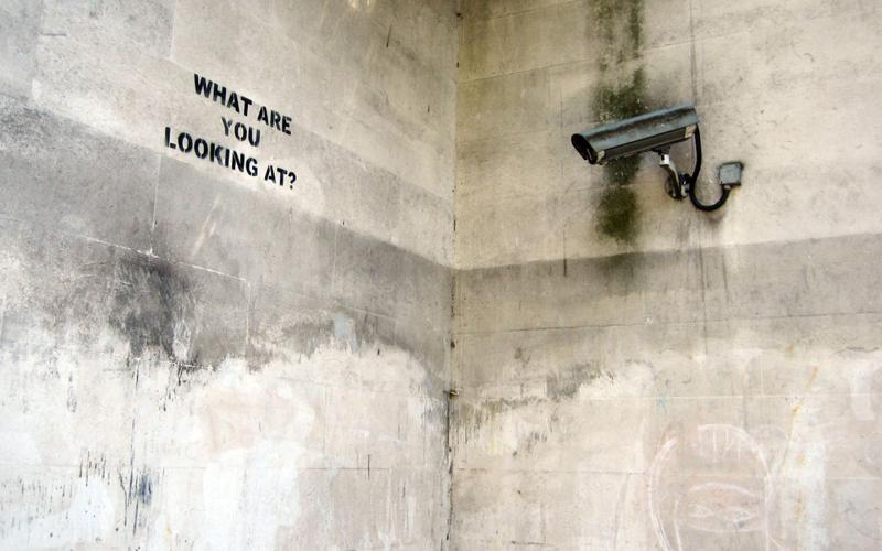 Banksy Street Art - What Are You Looking At?